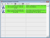 Dynamic Scheduler screen interface for quality management software system
