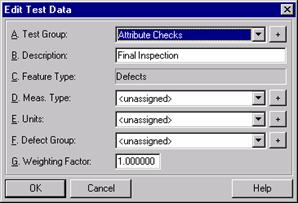Edit Test Data dialog box